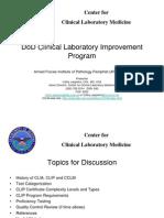 PRINT-DoD Clinical Laboratory Improvement Program