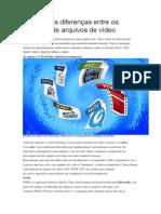 Formatos de Arquivos de Vídeo