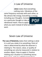 Seven Law of Universe