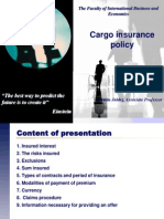 7. Cargo Insurance Policy