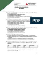 Examen Conocim Economía XI CEU