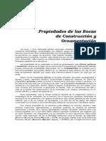Propiedades de Las Rocas de Construcción y Ornamentación