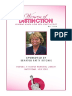 Senator Patty Ritchie Women of Distinction 2014