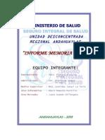 Informe Memoria Anual Institucional 2013- Udr Andahuaylas Ok
