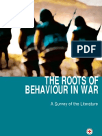 The roots of behaviour in war