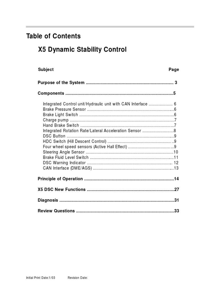 BMW X5 Dynamic Stability Control[1] | Anti Lock Braking System | Brake