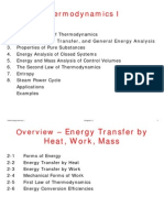 Thermodynamics 1 - Energy, Energy Transfer, and General Energy Analysis