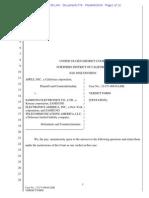 14-04-23 Tentative Apple v. Samsung II Verdict Form