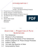 Thermodynamics 1 - Properties of Pure Substances
