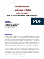 Weakness of Faith