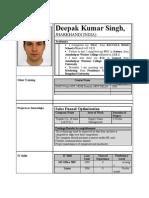 deepak singh resume
