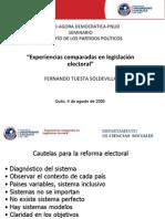 D 2005 Experiencias comparadas en legislación electoral. Quito.pdf