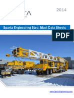 Sparta Engineering Steel Mast Data Sheets 2014