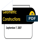 Geomtric Constructions