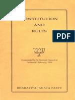 Constitution of Bharatiya Janata Party