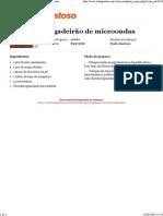 Tudo Gostoso - Brigadeirão de Microondas - Imprimir