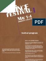Arst at Amherst Fringe Festival 2014 Digital Program