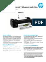 Caracteristicas Tecnicas de La Impresora HP Designjet T120
