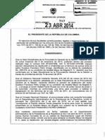 Decreto 797 Del 23 de Abril de 2014
