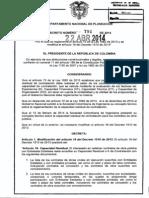 Decreto 791 Del 22 de Abril de 2014