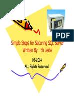 Simple Steps for Securing SQL Server