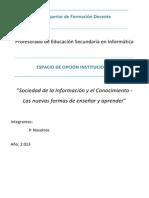 La Sociedad de La Informacion y El Conocimiento