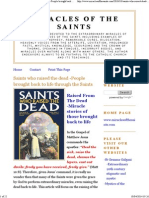 Miracles of the Saints Who Raised the Dead /