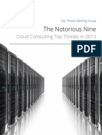 The Notorious Nine Cloud Computing Top Threats in 2013