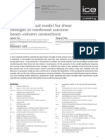 A New Empirical Model for Shear Strength of Reinforced Concrete Beam–Column Connections