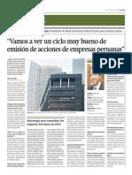 Veremos Ciclo Muy Bueno de Emisión de Acciones Empresas Peruanas_Gestión 24-04-2014