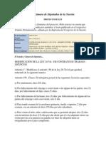 Pl-contrato de Trabajo-modif Sobre Licencias