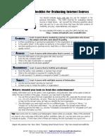 checklist for evaluating internet sources