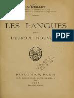 Meillet Antoine - Les Langues Dans l Europe Nouvelle