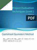 Project Evaluation Techniques (Cntd.)_MSREE_lec09