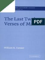 The Last Twelve Verses of Mark William Farmer