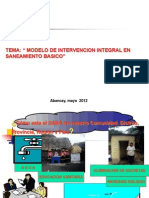 4.- Modelo de Intervencion Integral en Saneamiento Basico