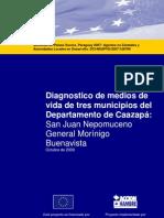 Diagnostico de medios de vida de tres municipios del Departamento de Caazapá