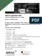 Sertuc Question Time