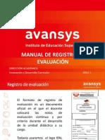 Manual de Registro de Evaluación 2014-1