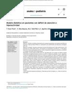 Modelo Dietético en Pacientes Con Déficit de Atención