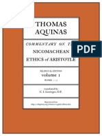 Thomas Aquinas Commentary on Aristotle's Ethics 1 Books 1 to 5