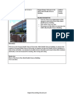 Allied Health Sciences Building Storyboard