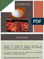 Nitratos e Nitritos - Slides