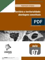 Territorio e Territorialidade