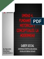 Unidad 4 Fundamentos Históricos y Conceptuales La Modernidad (Avances)