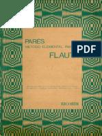 PARÈS Metodo Elemental Para Flauta - Ed. Ricordi