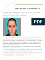 LAX Shooting Suspect Appears in Downtown L.A