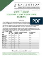 South Florida Vegetable Pest and Disease Hotline - April 24,2014