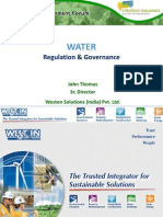 Water - Regulation & Governance