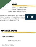 Macrolideos Tetraciclinas Amg Cloranfenicol Diversos Enfermagem
